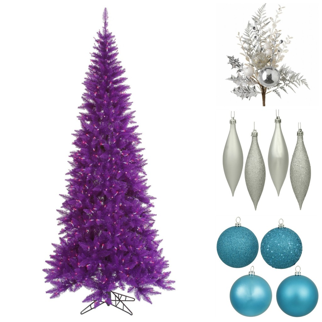 Purple Tree with Cool Decorations