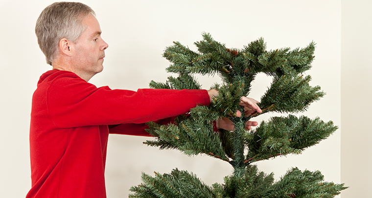 How to Shape Your Artificial Christmas Tree