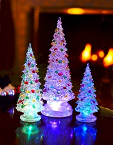 Decorated LED Christmas Tree Statue - Large