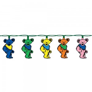 Grateful Dead Dancing Bear Christmas Lights