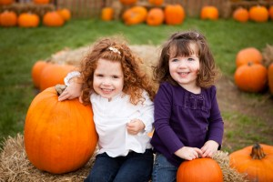 Family little girls pumpkin patch fall family activites